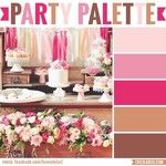 Ooh! A new color palette today!  I think it's kind of shabby chic. What do you think, do you like it? #rustic #shabbychic #colorpalette #partypalette