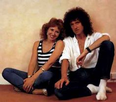 Brian May and wife Anita Dobson. Brian's Song, Queen Guitarist, Queen Brian May, We Will Rock You, Queen Freddie Mercury, Queen Band, John Deacon, Save The Queen, English Actresses