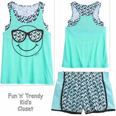 09993fad14c2 NWT Justice Girl Size 12 14 2fer Sports Bra Tank Top Shorts Active Wear  2-PC SET  Justice  ActivewearEveryday