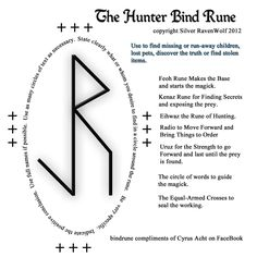 Silver RavenWolf -- rune for hunting lost things or people