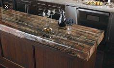 2x4 Resin Gloss Kitchen Countertop