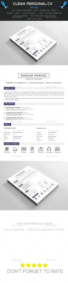 CV\/Resume \ Cover Letter Resume cover letters, Resume cv and - free resume templates to print