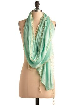 Mint to Be Scarf, #ModCloth