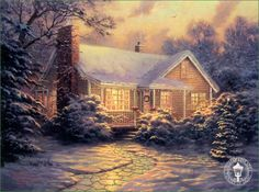 Thomas Kincaid- Christmas Cottage