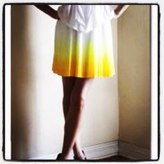 """❤️HOST PICK❤️ Bohemian boho yellow ombré skirt Pretty lemon yellow skirt with ombré gradations, ombré yellow embroidery with barely there sequins for a subtle shimmer in the sun. Never worn. Fits size 4-6. First picture is for outfit idea only, please see pics 2-4 for actual item. ⚠️Unless it is for bundles, I don't negotiate pricing through comments. Please use the """"Offer"""" button if you'd like to negotiate a deal lower than the listed price. Thank you! Other Skirts"""