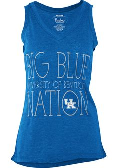 874b153be895 Kentucky Wildcats Womens Blue Prestiege Tank Top