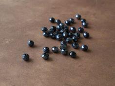 50 pieces 4mm Dark Indigo Rondelle Round Crystals Loose Crystal Beads #5040