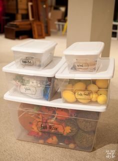 How to label storage containers with free printable labels