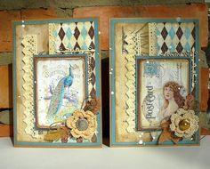 dwie podobne kartki w stylu vintage