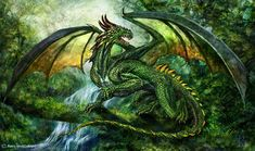 Nature Dragon | Light green(acid) dragon you will fight to bring magic back as the ...