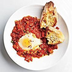 Marinara Poached Eggs | MyRecipes.com