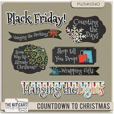 Personal Use :: Element Packs :: Countdown to Christmas Word Art