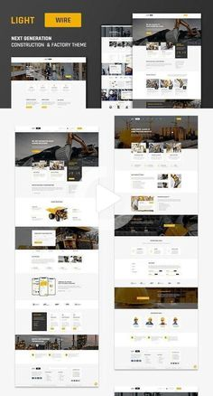 Lightwire - Construction And Industry Theme - #construction #Industry #Lightwire #Theme Web Design Grid, Web Design Black, Minimalist Web Design, Online Web Design, Flat Web Design, Modern Web Design, Mobile Web Design, Corporate Website Design, Website Design Layout