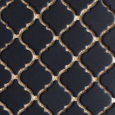 - Matte Black, x - Porcelain Pool Tile - Fujiwa Arabesque Tile Backsplash, Glass Subway Tile Backsplash, Black Interior Doors, Interior And Exterior, Modern Pools, Moroccan Tiles, Retro Design, Porcelain Tile, Black Glass
