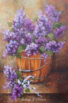 Oil Painting Flowers Art Flower Painting For Kids Kaws Canvas Art Klimt Mother And Child Canvas Large Canvas Art Lilac Painting, Painting & Drawing, Painting Flowers, Watercolor Flowers, Watercolor Paintings, Art Paintings, Country Paintings, Flower Wall Decor, Arte Floral