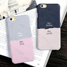 Cheap case for iphone, Buy Quality case for directly from China case for plus Suppliers: USLION Fashion Double Color Case For iPhone 6 Plus Simple Frosted Hard PC Phone Back Cover Cases For Plus Couples Phone Cases, Couple Cases, Girly Phone Cases, Diy Phone Case, Iphone Phone Cases, Iphone Case Covers, Cell Phone Covers, Coque Smartphone, Smartphone Case