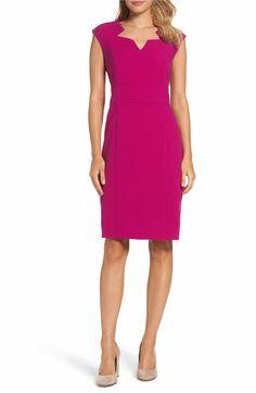 Main Image - Tahari Sheath Dress (Regular & Petite)