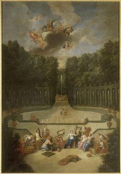 The Fountains of Versailles in the Time of Louis XIV:  Amphitheatre du Theatre d'Eau (Cotelle)