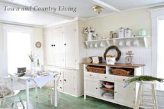 Town and Country Living Kitchen - LOVE this!