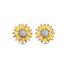 Asprey Daisy Heritage Earrings Yellow Shire And Diamond