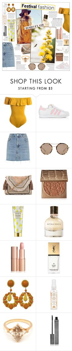 """Festival Fashion"" by honey-beans-xo ❤ liked on Polyvore featuring Sans Souci, adidas, Topshop, Gucci, Shashi, tarte, AERIN, Bottega Veneta, Yves Saint Laurent and The Honest Company"