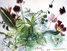 Rustic Bouquet Artwork by Raoul Dufy Hand-painted and Art Prints on canvas for sale,you can custom the size and frame