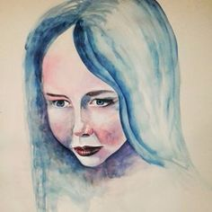 Should have sketched it out first. But too impatient to get back to painting. Get Back, Watercolor, Instagram Posts, Photography, Profile, Painting, Image, Blue, Art
