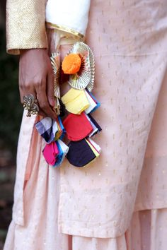 WhiteRoseGold Sharara Set Kurti Sleeves Design, Kurti Neck Designs, Sleeve Designs, Floral Embroidery Patterns, Beaded Embroidery, Hand Embroidery, Diy Tassel, Tassel Jewelry, Saree Tassels