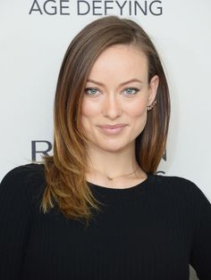 Olivia Wilde - Face-framing layers soften straight, below-the-shoulders hair.