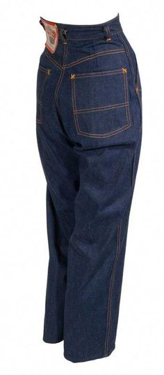 4c88b48dea5 Incredible 40s women s dungarees by Crown Overall Company. High waist with  Hollywood style dropped belt