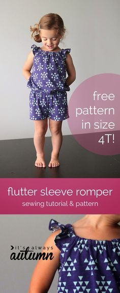 Sew Pretty Sew Free: Flutter Sleeve Romper Pattern and Tutorial