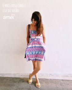Fresquinho  #lojaamei #novidades #vestido #leve #fresco #chinelo #verao