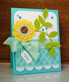 Moxie Fab Scallops by Nerina's Cards, via Flickr - gorgeous colour scheme