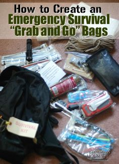 Emergency Survival Grab and Go Bags