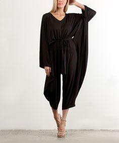 Black Tie-Waist Jumpsuit - Plus