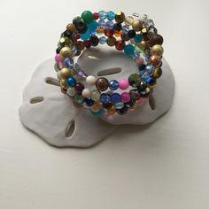 A personal favorite from my Etsy shop https://www.etsy.com/listing/236251584/fancy-multicolored-wrap-beaded-bracelet