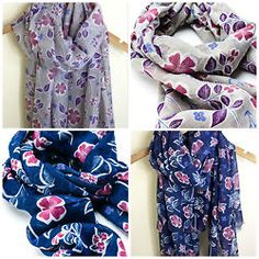 STRIKING LADIES LARGE FLORAL FLOWER PRINT OVERSIZED SOFT SCARF WRAP SS16