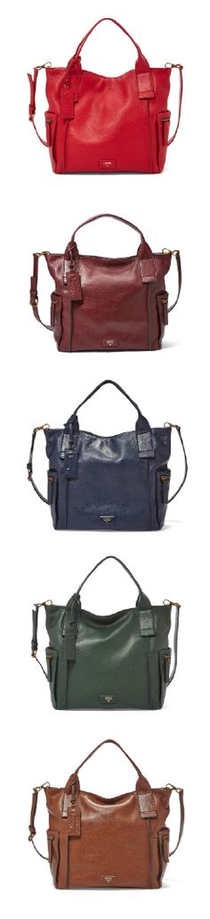#Fossil Emerson Satchel in colors to Fall for.