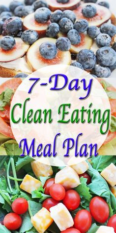 7 day clean eating meal plan #cleaneating #eatclean #healthyeating