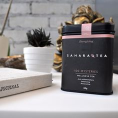 Warm your body without the side effects of caffeine with our restorative blend of 100 Mysteries.  . . #SaharaTea #wellness #tea #wellness tea #thursdaythoughts #100mysteries #restorative #rooibos #nocaffeine #yoga #889yoga #fiveminutejournal #healthy #healthylifestyle