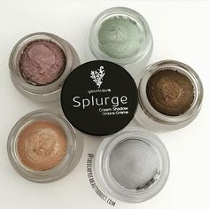 Love this photo by @thediaryofabeautyaddict with the five shades of Splurge Cream Shadow released so far. Tomorrow (8/1) we're launching a new shade... Stay tuned!  What's your favorite Splurge color?