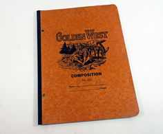 1930s Golden West Composition Book Back to School Supplies