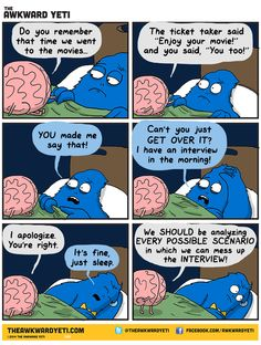 The awkward yeti and the brain Haha Funny, Funny Cute, Funny Jokes, Hilarious, Lol, Funny Stuff, Random Stuff, Funny Shit, Funny Things