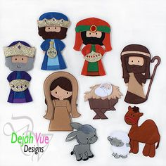 Nativity Set ITH Embroidery Design - Dejah Vue Designs