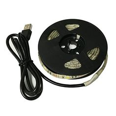 Semlos Bias Lighting for HDTV USB Powered TV Backlighting 32 ft DC 5V 60 leds Waterproof Strip Light Bright White Reduce eye fatigue and increase image clarity * Find out more about the great product at the image link.