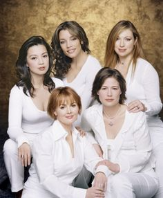 Women of ER Season 7. Ming-Na, Michael Michele, Alex Kingston, Laura Innes and Maura Tierney.