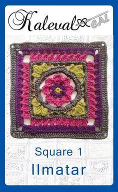 Kalevala CAL crochet-along, square 1. Join in the blanket cal by Finnish crochet designers