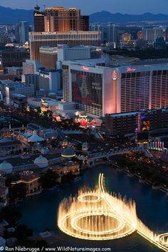 Stock Photo of aerial view of Las Vegas strip, Nevada by Alaska photographer Ron Niebrugge Las Vegas Resorts, Las Vegas Vacation, Las Vegas City, Las Vegas Strip, Las Vegas Nevada, Vacation Places, Beach Resorts, Reno Tahoe, Nevada Usa