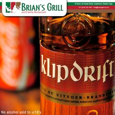 Come and make yourself at home here at Brian's Grill with the ALL DAY EVERYDAY SPECIAL! - Buy 2 Double Klipdrift and Coke for R30. Call us on: (0)44 279 1927 #BriansGrill #Special #KlipdriftandCoke No alcohol sold to u/18's