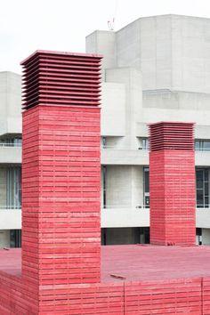 ROYAL NATIONAL THEATRE | SOUTH BANK | LONDON BOROUGH OF LAMBETH | LONDON | ENGLAND: *Opened: 1976; Architect: Sir Denys Lasdun; Grade II* Listed*